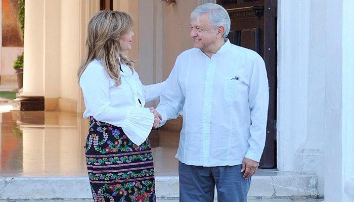 Andrés Manuel se reúne con la gobernadora de Sonora