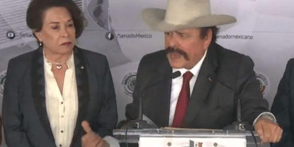"""Senadora de Morena llama """"retrasados mentales"""" a reporteros"""