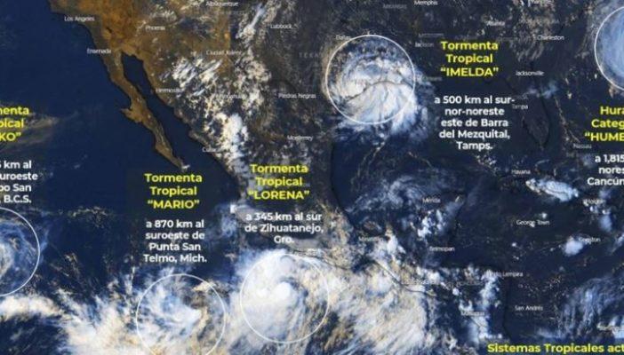 'Lorena' se fortalece y amenaza las costas del Pacífico