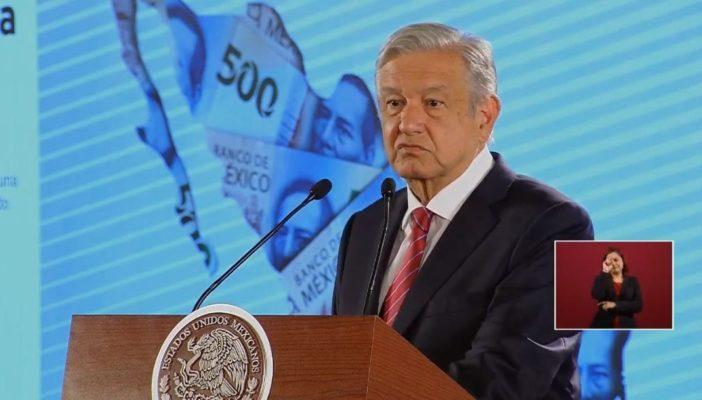 AMLO confía lograr crecimiento económico durante 2020