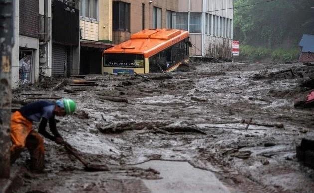 Deslave en Japón
