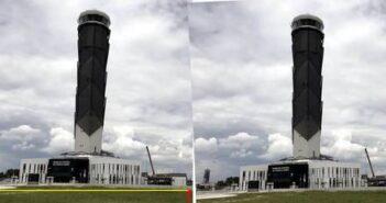 Torre de Control en aeropuerto de Santa Lucía se está inclinando