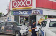 Otro Oxxo robado en Vallarta; hasta una bolsa de mujer se llenó el asaltante