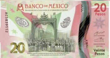 Presenta el Banxico nuevo billete de 20 pesos