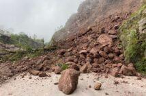 Nuevo derrumbe cierra parcialmente la carretera estatal 544