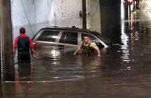 Hombre pierde la vida al quedar atrapado en inundación en Guadalajara