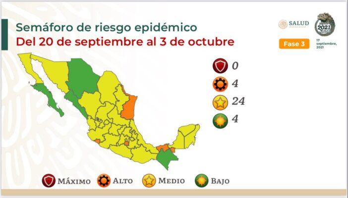 Se mantiene Jalisco en color amarillo en el semáforo nacional