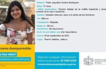 Regresa a casa Perla Jaqueline, la menor desaparecida de Vallarta