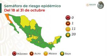 México se pinta de verde en el semáforo, pero Jalisco sigue amarillo