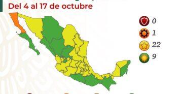 Jalisco y Nayarit repiten en color amarillo en el semáforo nacional
